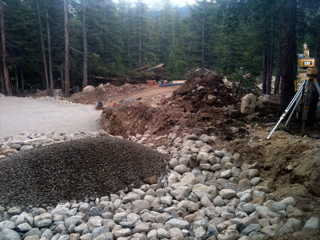 Example of an over dig on a job site in Colorado