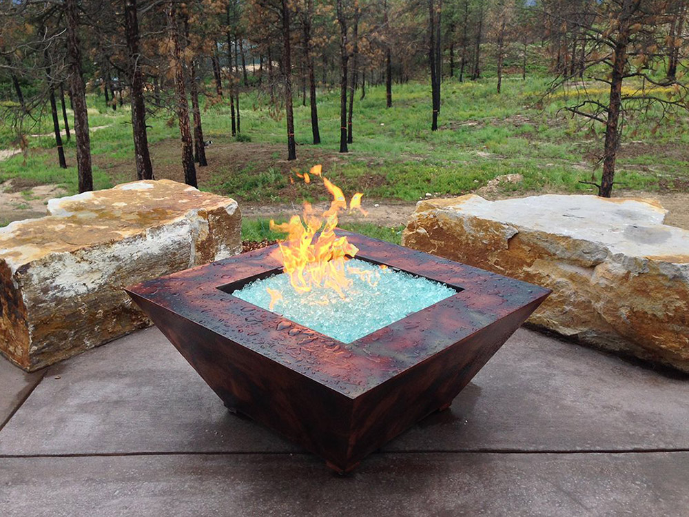 Award winning outdoor living space fire pit stauffer for Outdoor fire pit construction