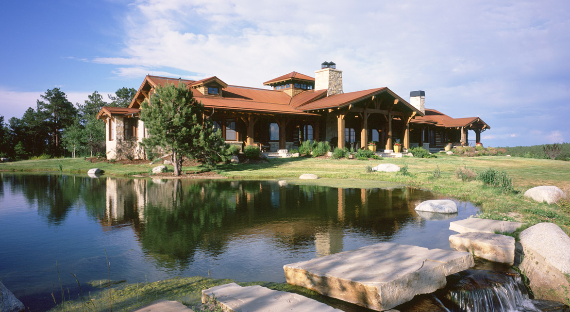 Colorado timber homes timber frame homes post beam homes for Colorado log home plans