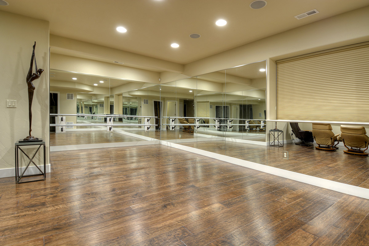 Dance Studio in New Home Basement - Stauffer & Sons Construction
