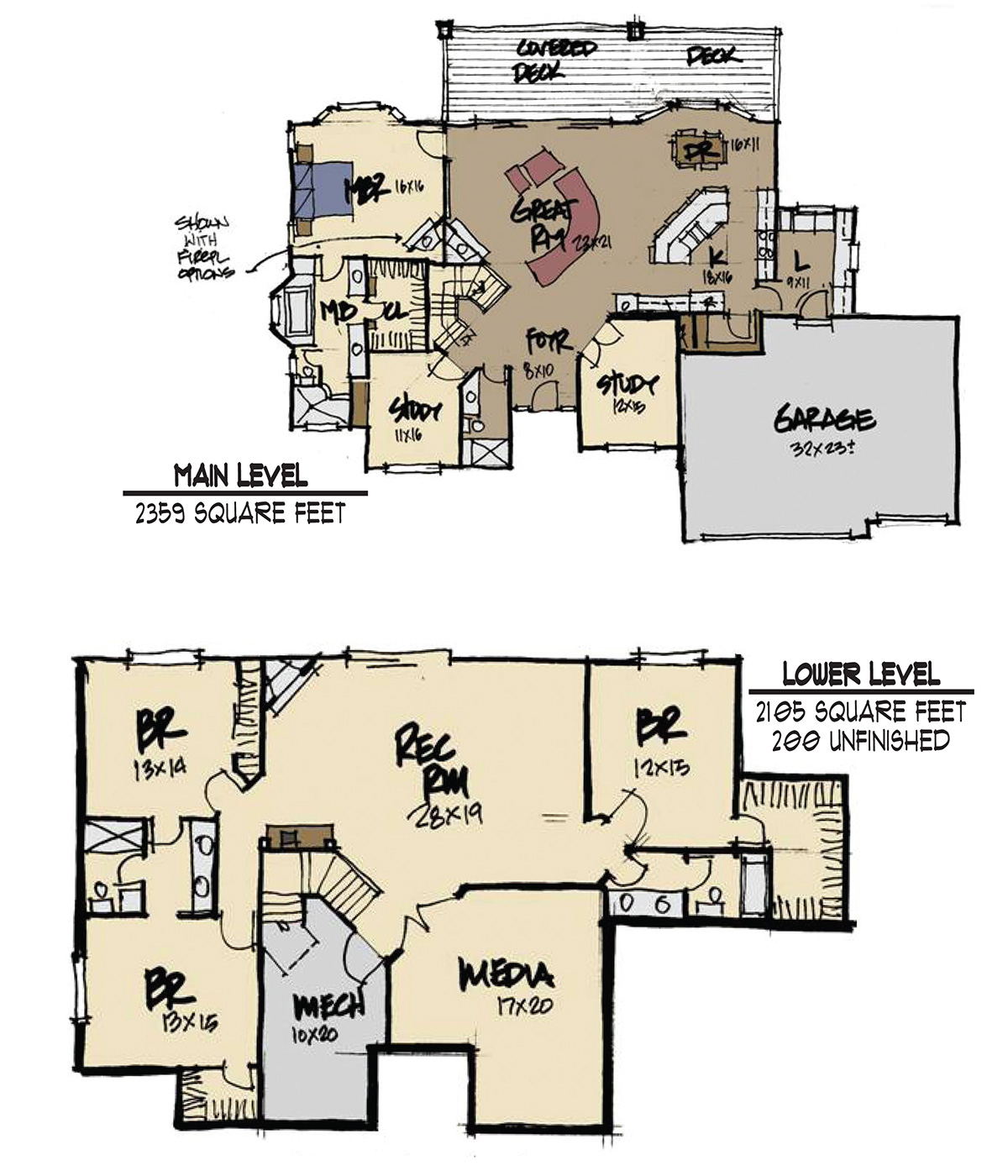 Green river 4 bed 4 bath 4 464 sq ft custom home for Green floor plans