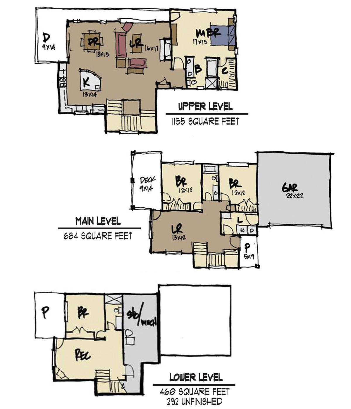 Sunlight peak 4 bed 3 bath custom home 2 299 square feet for Custom home builder floor plans