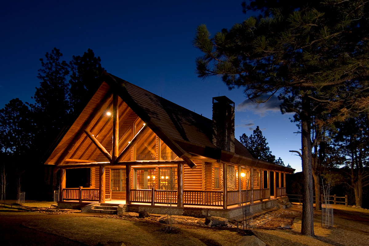 Timber log construction stauffer sons construction for Ski cabins in colorado