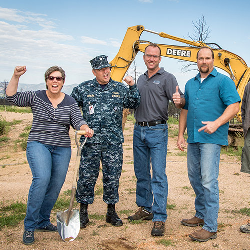 New Home Groundbreaking in Black Forest