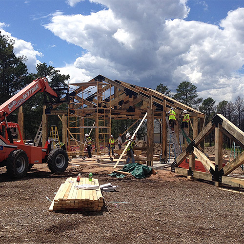 Log School Park Nearing Completion in Black Forest