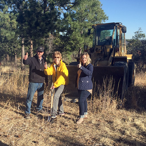 New Black Forest Custom Home Groundbreaking